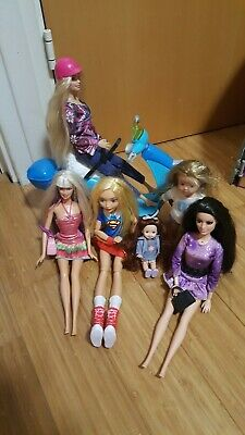 Bundle Of Barbie/other Dolls With Moped