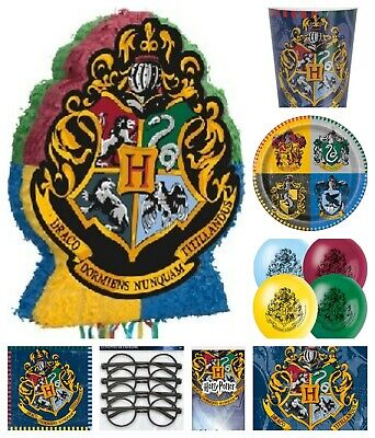 Harry Potter Birthday Party Range Tableware Balloons Decorations Filled Bags