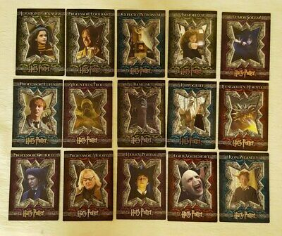 Harry Potter-LOT OF 15 -GOF-Silver Foil-Movie Card's Artbox  #1-4