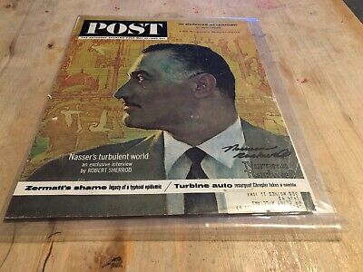 "Signed Norman Rockwell ""Nasser"" The Saturday Evening Post Cover May 25, 1963"