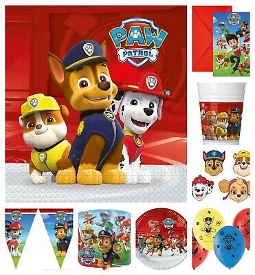 Paw Patrol Birthday Party Range Tableware Balloons Decorations Filled Bags