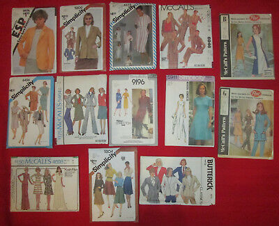 13 UNCUT 1970's-80's Women Sewing Patterns Simplicity Butterick and McCalls