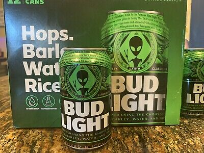 "Bud Light << AREA 51>> Green Alien ""Earth Can"" Storm Area 51"