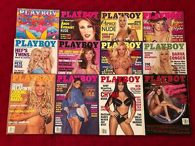 Playboy Magazine Full Year Complete Collection Set  2000 lot 12 issues Nude Lot