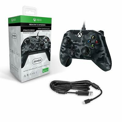 Xbox One Controller Wired PDP Gamepad Usb Windows Black Camo Microsoft Official