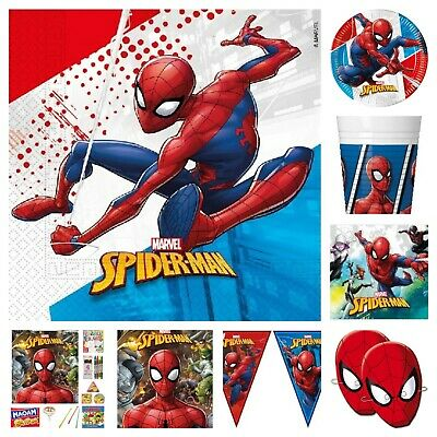 Spiderman Birthday Party Range Tableware Balloons Decorations Filled Bags