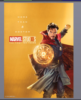 Topps Marvel Collect Trader Studios 1st 10 Year Gold Character Poster Dr Strange