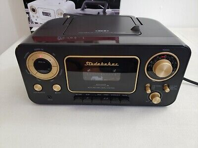 USED Studebaker Portable CD Boombox with AM/FM and Cassette Player/Recorder