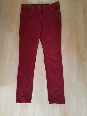 Next Girls Corduroy Cords Trousers Dark Red Size 11 Years