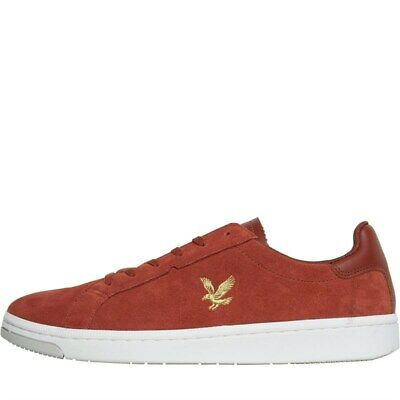 Lyle And Scott Vintage Mens Burchill Burnt Orange/Gold Trainers 7 UK / 41 EU