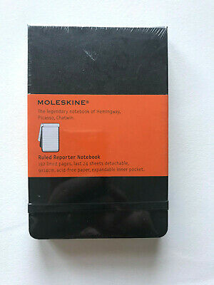 Moleskine Ruled Reporter Notebook - Lined Pages - Writing - Journal - New Sealed