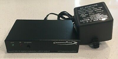 Channel Plus Model 5515 1 Channel Digital Single Modulator with Power Adapter