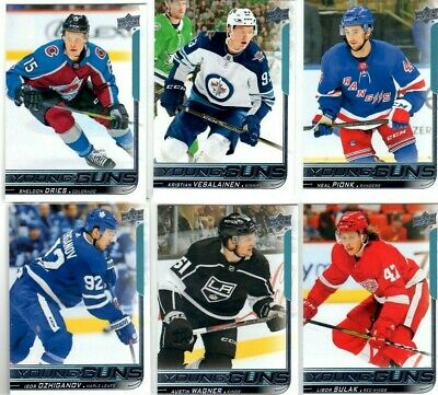 2018-19 Upper Deck Young Guns PICK YOUR SINGLES LOT WOW FLAT SHIPPING RATE