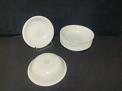 "Corelle Winter Frost White Berry Fruit Sauce Bowls 5 3/8"" Set Of 10"
