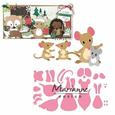 ELINE'S MICE FAMILY COL1437 - Marianne Design COLLECTABLE DIES