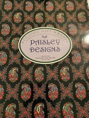 Classic Paisley Design Gift Wrap Book Paisley Museum Scotland