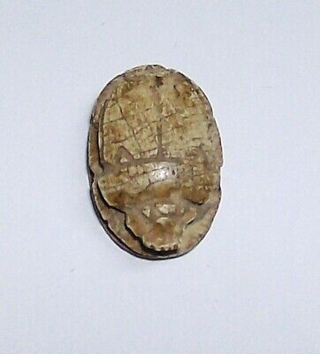 .ancient steatite scarab of the new Egyptian kingdom.