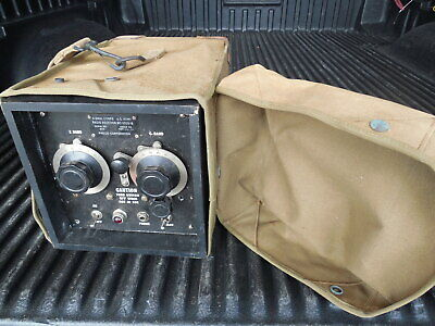 Vintage US Army Signal Corps Radio Receiver PHILCO with case ww11 ww2