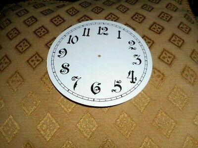 "Round Paper (Card) Clock Dial - 2 3/4"" M/T - Ornate Arabic- GLOSS WHITE - Parts"