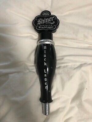 Authentic Shiner Black Beer Tap Handle Texas Bock Great Condition!