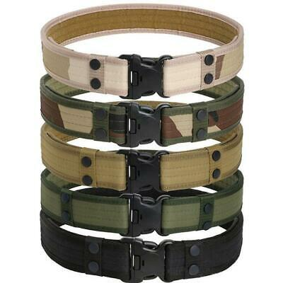 Tactical Belt Men Military Belts Army Thicken Canvas Adjustable Waistband Black