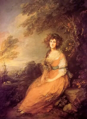 Dream-art Oil painting thomas gainsborough - mrs sheridan nice young lady canvas