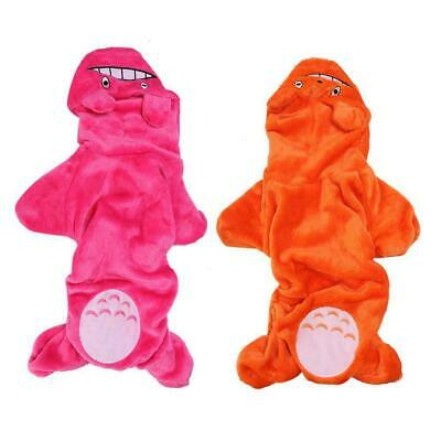 Soft Coral Fleece Dog Hoodie Jumpsuit Winter Dog Clothes Small Puppy Pet Outfits