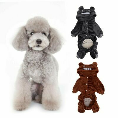 Coral Fleece Dog Hoodie Jumpsuit Winter Dog Clothes Small Puppy Pet Outfits