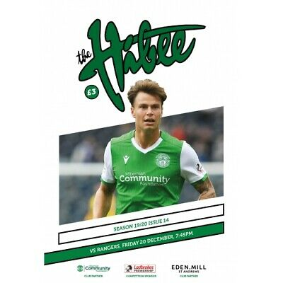 HIBERNIAN  v  RANGERS  20/12/2019 OFFICIAL PROGRAMME IN MINT CONDITION
