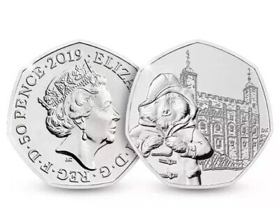 Paddington Bear 50p Tower Of London Coin 2019 Uncirculated New