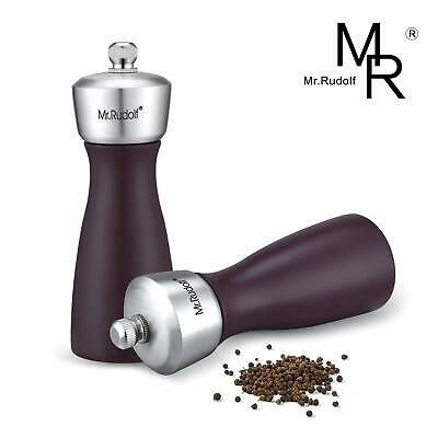 Salt and Pepper Grinder Premium Stainless Steel Salt and Pepper Mill with Adjust