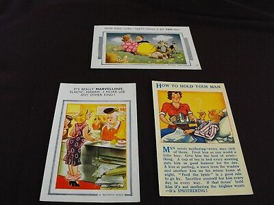 Pre 1950s Vintage humorous Postcards - P.Taylor, A.Taylor, R.Maurice