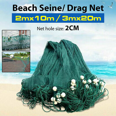 Never Buy Bait Again Free Shipping not gill net Sandeel Seine//Bait Net 40ft