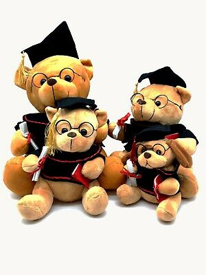 "Teddy Bear ""Graduation With Hat And Scroll"" School University"