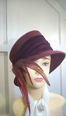 Vintage wedding races occasion hat hat guild gold label