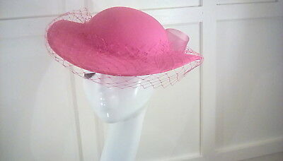 vintage pink wedding occasion races hat first avenue