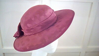 vintage wedding races occasion hat satin Albert Headways