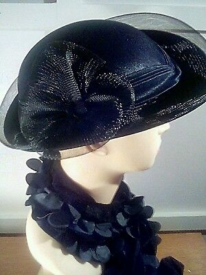 Black Wedding/Races Hat - Vintage