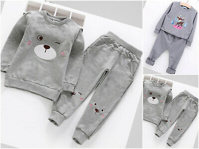 Girls Tracksuit set Baby Pants Tops Clothes Toddler Outfit Long Sleeve Age 2-8 y