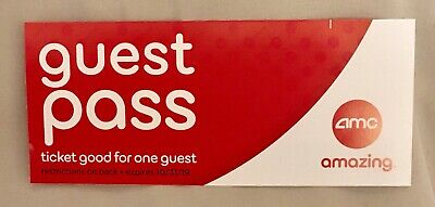 4) AMC Theatres MOVIE TICKETS Guest Readmit Pass.No Surcharge IMAX/Dolby Theater