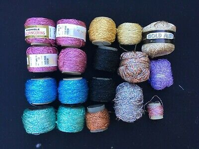 Twilley's Goldfingering Crochet Knitting Thread Plus Others Bulk Lot New & Used