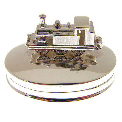 Silver Steam Train Tooth Box. Hallmarked 925 Sterling Silver Tooth Fairy Box