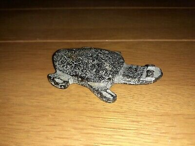 Chinese Carved Hardstone Pendant / Model Of A Turtle