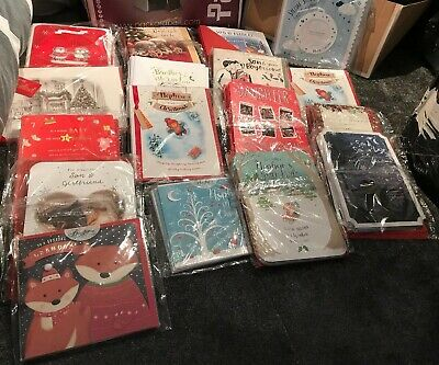JOB LOT ~ 200 MIXED CHRISTMAS CARDS TOP QUALITY IN PACKS Retail 99p To £1.79