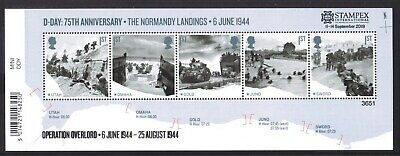 STAMPEX D-DAY 75th ANNIVERSARY - THE NORMANDY LANDINGS LIMITED 7,500 ISSUED MINT