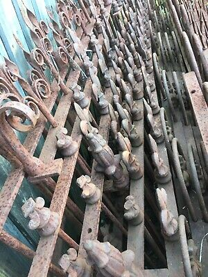 Spear Loop top Wrought cast Iron Fencing Fence Victorian Edwardian antique steel