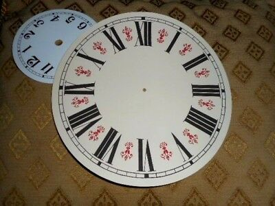 "Round Vienna Style Paper (Card) Clock Dial - 8"" M/T - GLOSS CREAM-Parts /Spares"
