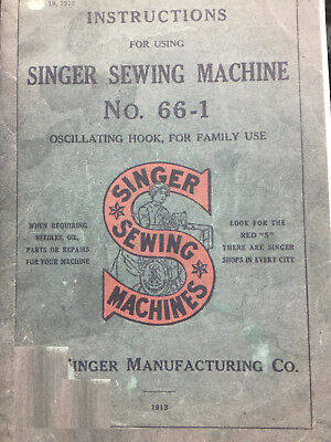 Singer Model 66-1 Sewing Machine Instruction Manual For Back Clamp Attachments