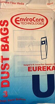EnviroCare Replacement Vacuum Bags for Eureka Type U - 3 Pack - New in Package