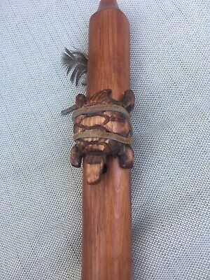 Navajo Native American Wooden Flute with Turtle by Jonah Thompson